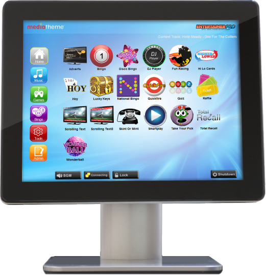 Entertainment System for pubs, entertainment, hospitality and holiday sectors